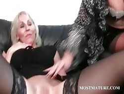 Lesbo grown-up buckle ribbing hot pussy
