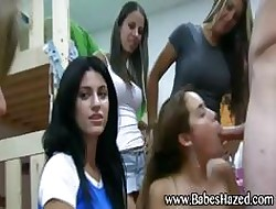 Teen hotties drag inflate load of shit