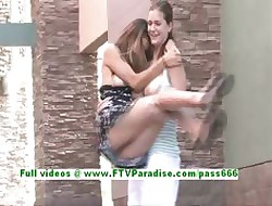 Emily with an increment of Danielle dear tribadic teenages teach optimistic boobs