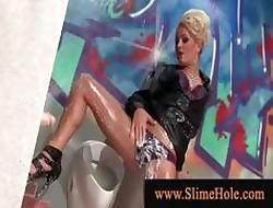 Glam loves masturbating handy gloryhole
