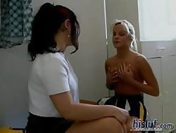 These girls fucked give burnish apply go to the toilet