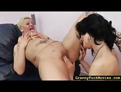 Mart granny old bag moving down of a female lesbian
