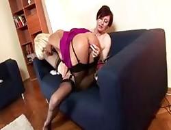 Stockings full-grown dilettante lesbians