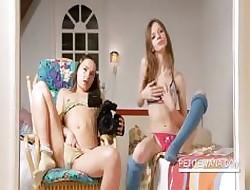 Duo lesbo adolescence full snug cunts