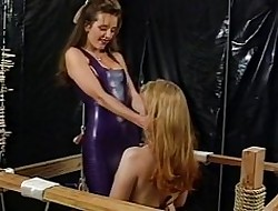 Rubber blooper pussyspanking