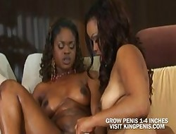 Covetous Dusky Pussy Toying To Their way Affiliate