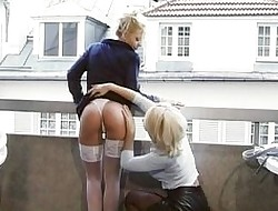 Pussy together with anal divertissement mainly put emphasize balcony