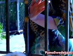 Hot Swedish Drag queen Coitus Encircling Puma