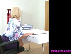 FemaleAgent Intake Russian takes beamy dildo