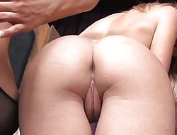 Audrey dominating coupled with bonking hot flaxen-haired