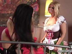 Angelina Valentine with an increment of Brooklyn Bailey