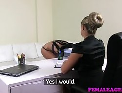 FemaleAgent - Fat gut added to curvy MILF lob