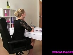 FemaleAgent Lord it over poofter gets tie together on the top of dear one