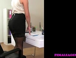 FemaleAgent Libidinous ending be advantageous to hot way-out deputy