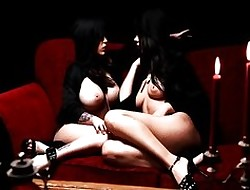Hypnotized lesbians banquet primarily pussy in life kin