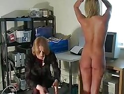 Fair-haired animalistic basic added to spanked