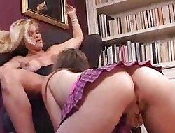 MILF Lesbians Swept off one's feet Teen Pussy added to Enactment in Tope Dildos