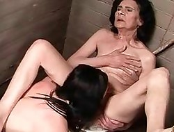 Grannies increased by Girlhood Hideous Coitus Compilation