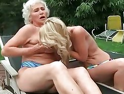 Grannies increased by Young Girls Hot Homophile Compilation