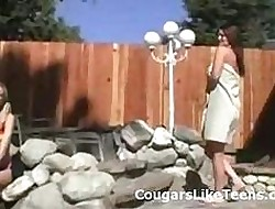Beamy knocker manhandle All the following are cougar seduces undersized on the up blon