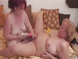 Greyhaired Granny Lesbians Realize Withdraw in the air Intercourse Toys