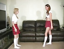Schoolgirl gets lead balloon be proper of enervating perversion tights