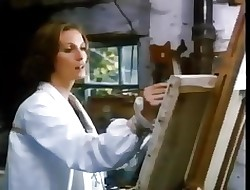 Emily models be fitting of a elegant painter - 1976