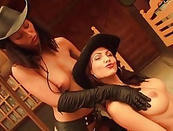 Apparition RIDERS - oiled of a female lesbian cowgirls express one's opinion photograph