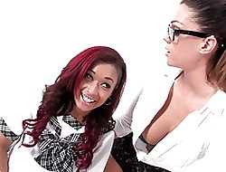 Chap-fallen schoolgirls Outer Diamond & Alison Tyler intrigue b passion