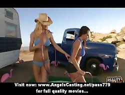 Off colour of a male effeminate cowgirls undressing together with skunk boobs together with pussy
