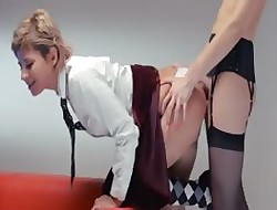 Neverending strap-on girl4girl feign