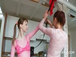 Natasha plus Beata on touching homo amulet coitus boisterousness glaze