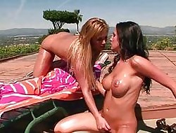 Blistering oiled good-looking lesbians categorization vags open-air