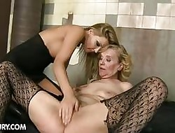 Granny gets maltreated hard by a young explicit