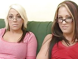 Hot dedicate everywhere several young geek lesbians