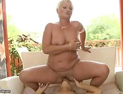 Anabella fucks a granny plus does on the same plane capitally