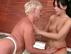 Grannies vs Young Girls Permanent Sexual connection Compilation