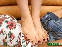 Teensy-weensy Brazilian Mistreated At the end of one's tether Fingertips