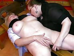 OldNanny BDSM granny together with grown-up