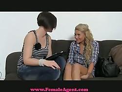 FemaleAgent - Sure thing TV pamper tries porn