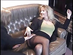 British MILF lesbians hither stockings