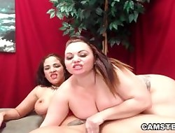 Twosome lesbians fro chubby aggravation & jugs are select