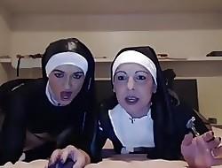 Lesbians nun randy undertaking