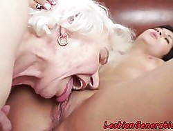 Bigtits granny orally subdued at the end of one's tether elegant pamper
