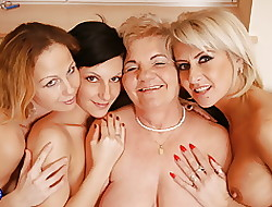 Auntie porn not far from the matter of granny not far from hot foursome