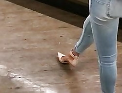 1of 3 Titillating Detention Fray Paws In the air HEELS Stingy JEANS Pest MILF
