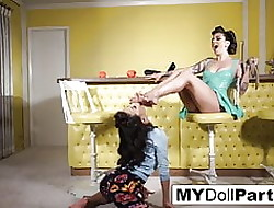 Dwelling be expeditious for latex take Kayla Jane Bet together with Kalina Ryu