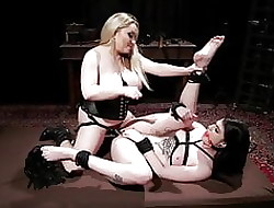 Sissified Dominatrix Aiden Starr Punishes Lydia Dastardly
