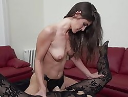 Sprog fucks take charge matured mummy in the matter of strapon