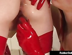 Latex Sweetheart Rubber Catholic Dildo Tomfoolery Fucked Unconnected with Scar!